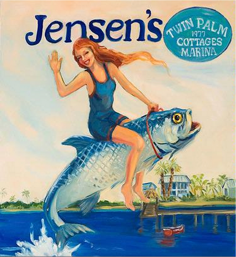 Jensen's Twin Palm Cottages and Marina For Sale, Captiva Island Real Estate Report. Illustration Courtesy Of Myra Roberts & Jensen's Marina.