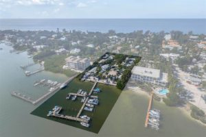 Jensen's Twin Palm Cottages and Marina For Sale, Captiva Island Real Estate Report. Aerial View 3. Photo Courtesy Of Jeffrey Burns, Premier Sotheby's International Realty.