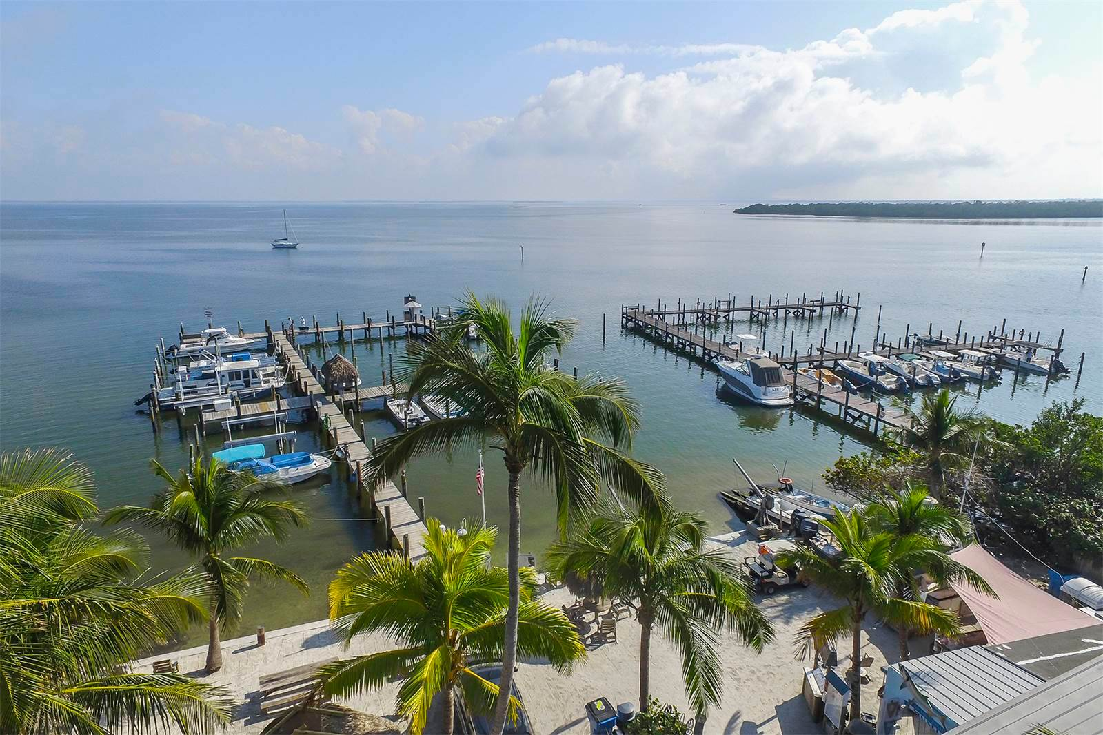 Jensen's Twin Palm Cottages and Marina For Sale, Captiva Island Real Estate Report. Arial View. Photo Courtesy Of Jeffrey Burns, Premier Sotheby's International Realty.